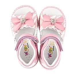 Детские босоножки Woopy Orthopedic розовые для девочек натуральная кожа размер 19-23 (5038) Фото 5