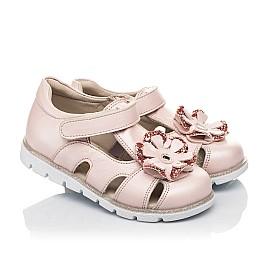 Детские закрытые босоножки Woopy Fashion пудровые для девочек натуральная кожа размер 21-30 (5039) Фото 1