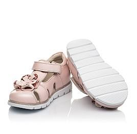 Детские закрытые босоножки Woopy Fashion пудровые для девочек натуральная кожа размер 21-30 (5039) Фото 2