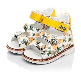 Детские босоножки Woopy Orthopedic желтые для девочек натуральная кожа размер 18-30 (5040) Фото 3