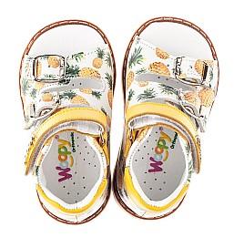 Детские босоножки Woopy Orthopedic желтые для девочек натуральная кожа размер 18-30 (5040) Фото 5