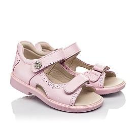 Детские босоножки Woopy Orthopedic розовые для девочек натуральная кожа размер 33-33 (5041) Фото 1