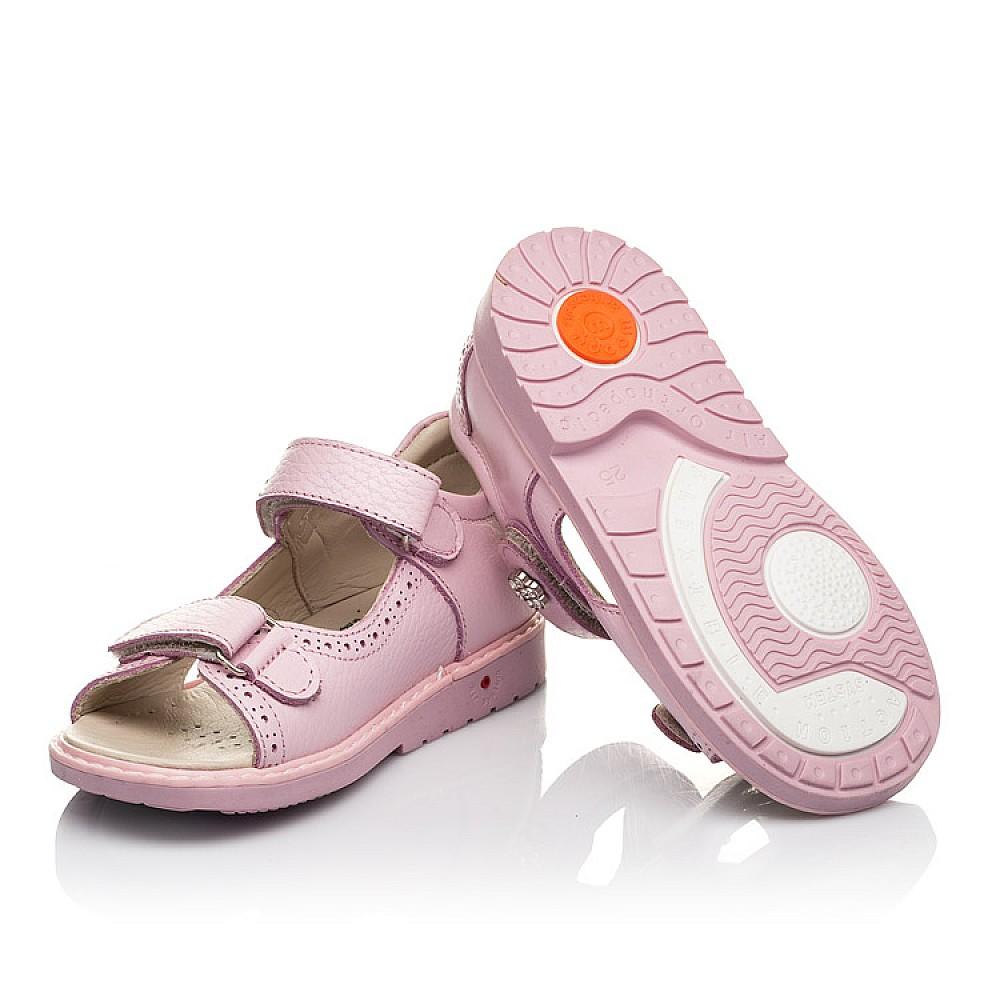 Детские босоножки Woopy Orthopedic розовые для девочек натуральная кожа размер 22-36 (5041) Фото 2
