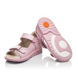 Детские босоножки Woopy Orthopedic розовые для девочек натуральная кожа размер 22-33 (5041) Фото 2