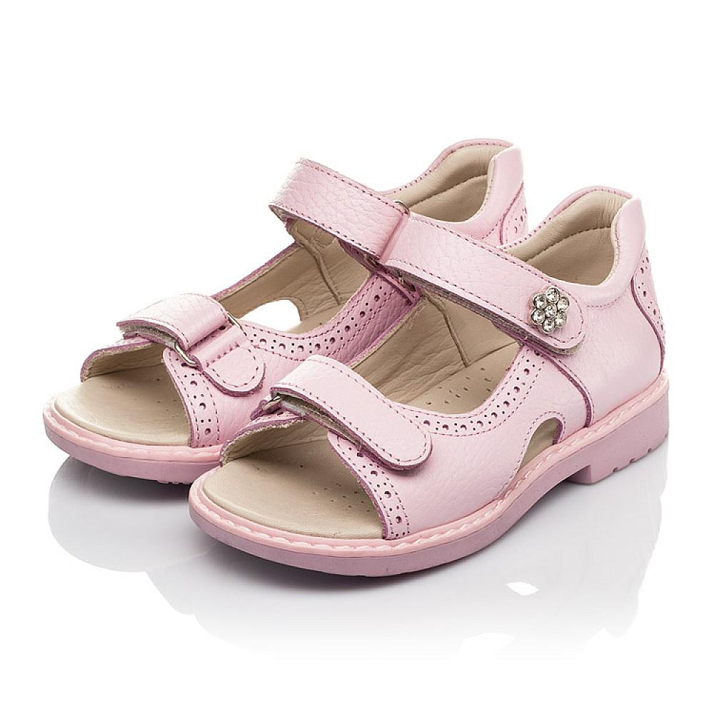 Детские босоножки Woopy Orthopedic розовые для девочек натуральная кожа размер 22-36 (5041) Фото 3