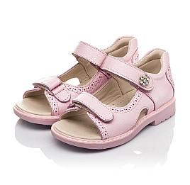 Детские босоножки Woopy Orthopedic розовые для девочек натуральная кожа размер 22-33 (5041) Фото 3