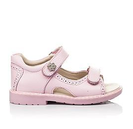 Детские босоножки Woopy Orthopedic розовые для девочек натуральная кожа размер 22-33 (5041) Фото 4