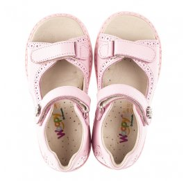 Детские босоножки Woopy Orthopedic розовые для девочек натуральная кожа размер 22-33 (5041) Фото 5