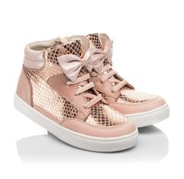 Детские демисезонные ботинки (подкладка кожа) Woopy Fashion пудровые для девочек натуральный нубук размер 21-37 (5042) Фото 1