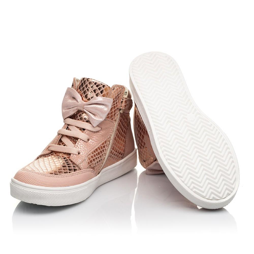 Детские демисезонные ботинки (подкладка кожа) Woopy Fashion пудровые для девочек натуральный нубук размер 21-37 (5042) Фото 2
