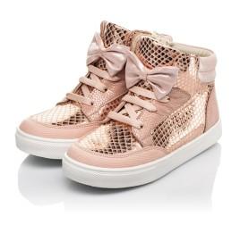 Детские демисезонные ботинки (подкладка кожа) Woopy Fashion пудровые для девочек натуральный нубук размер 21-37 (5042) Фото 3