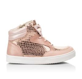 Детские демисезонные ботинки (подкладка кожа) Woopy Fashion пудровые для девочек натуральный нубук размер 21-37 (5042) Фото 4