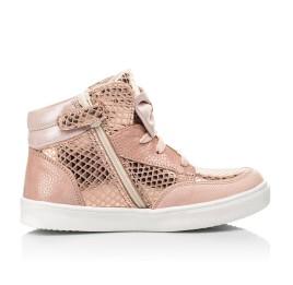 Детские демісезонні черевики (підкладка шкіра) Woopy Fashion пудровые для девочек натуральный нубук размер 21-37 (5042) Фото 5