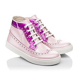 Детские демисезонные ботинки (подкладка кожа) Woopy Fashion розовые для девочек натуральная кожа размер 28-35 (5043) Фото 1