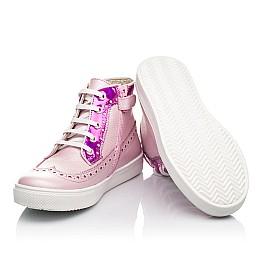 Детские демисезонные ботинки (подкладка кожа) Woopy Fashion розовые для девочек натуральная кожа размер 28-35 (5043) Фото 2