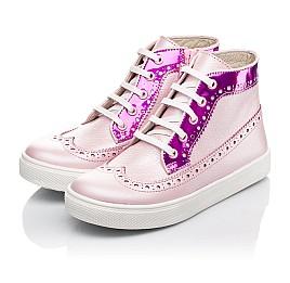 Детские демисезонные ботинки (подкладка кожа) Woopy Fashion розовые для девочек натуральная кожа размер 28-35 (5043) Фото 3
