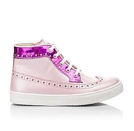 Детские демисезонные ботинки (подкладка кожа) Woopy Fashion розовые для девочек натуральная кожа размер 28-35 (5043) Фото 4