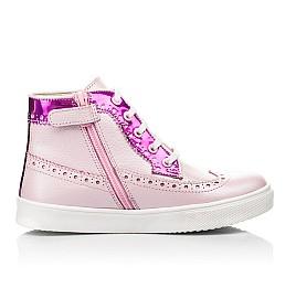 Детские демисезонные ботинки (подкладка кожа) Woopy Fashion розовые для девочек натуральная кожа размер 28-35 (5043) Фото 5