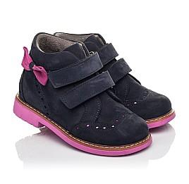 Детские демісезонні черевики Woopy Orthopedic синие для девочек натуральный нубук размер 18-33 (5044) Фото 1