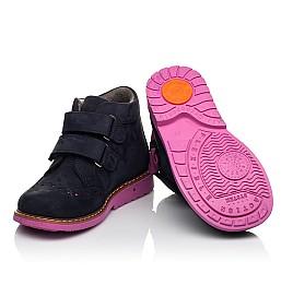 Детские демісезонні черевики Woopy Orthopedic синие для девочек натуральный нубук размер 18-33 (5044) Фото 2