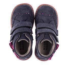 Детские демісезонні черевики Woopy Orthopedic синие для девочек натуральный нубук размер 18-33 (5044) Фото 4