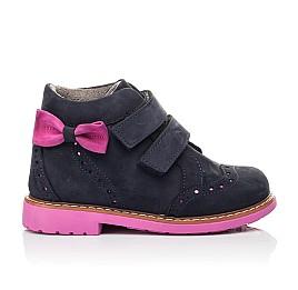 Детские демісезонні черевики Woopy Orthopedic синие для девочек натуральный нубук размер 18-33 (5044) Фото 5