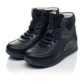 Детские демисезонные ботинки (подкладка кожа) Woopy Fashion синие для мальчиков натуральная кожа размер 31-37 (5045) Фото 3