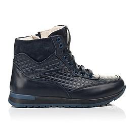 Детские демисезонные ботинки (подкладка кожа) Woopy Fashion синие для мальчиков натуральная кожа размер 31-37 (5045) Фото 4