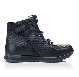 Детские демисезонные ботинки (подкладка кожа) Woopy Fashion синие для мальчиков натуральная кожа размер 31-37 (5045) Фото 5