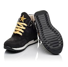 Детские демисезонные ботинки (подкладка кожа) Woopy Fashion черные для мальчиков натуральный нубук размер 29-39 (5047) Фото 2