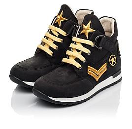 Детские демисезонные ботинки (подкладка кожа) Woopy Fashion черные для мальчиков натуральный нубук размер 29-39 (5047) Фото 3