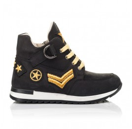 Детские демисезонные ботинки (подкладка кожа) Woopy Fashion черные для мальчиков натуральный нубук размер 29-39 (5047) Фото 4