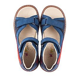 Детские босоножки Woopy Orthopedic синие для мальчиков натуральный нубук размер 26-35 (5048) Фото 5