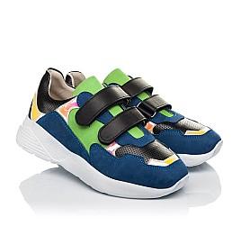Детские кроссовки Woopy Fashion синие для мальчиков натуральный нубук размер 26-38 (5049) Фото 1