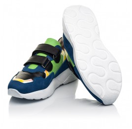 Детские кроссовки Woopy Fashion синие для мальчиков натуральный нубук размер 26-38 (5049) Фото 2