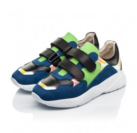 Детские кроссовки Woopy Fashion синие для мальчиков натуральный нубук размер 26-38 (5049) Фото 3
