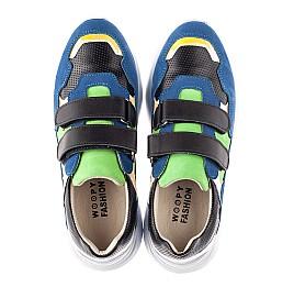Детские кроссовки Woopy Fashion синие для мальчиков натуральный нубук размер 26-38 (5049) Фото 5