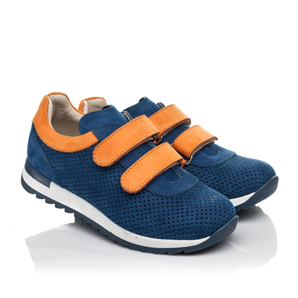 Детские кроссовки Woopy Fashion синие для мальчиков натуральный нубук размер 28-38 (5050) Фото 1