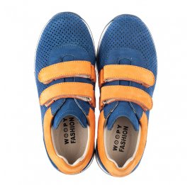 Детские кроссовки Woopy Fashion синие для мальчиков натуральный нубук размер 28-38 (5050) Фото 5