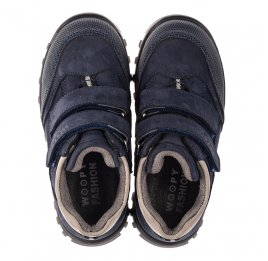 Детские демисезонные ботинки Woopy Fashion синие для мальчиков натуральный нубук размер 27-38 (5051) Фото 5