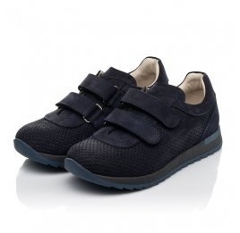 Детские кроссовки Woopy Fashion синие для мальчиков натуральный нубук размер 29-39 (5052) Фото 3