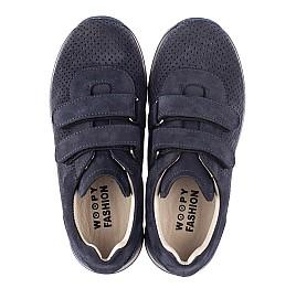 Детские кроссовки Woopy Fashion синие для мальчиков натуральный нубук размер 29-39 (5052) Фото 5