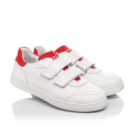 Детские кеды Woopy Fashion белые для девочек натуральная кожа размер 29-39 (5053) Фото 1