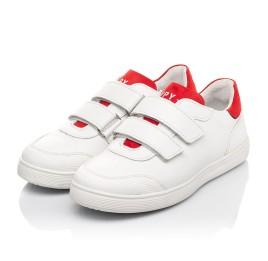 Детские кеды Woopy Fashion белые для девочек натуральная кожа размер 29-39 (5053) Фото 3