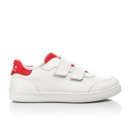 Детские кеды Woopy Fashion белые для девочек натуральная кожа размер 29-39 (5053) Фото 4
