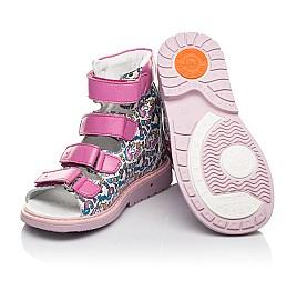 Детские ортопедичні босоніжки (з високим берцями) Woopy Orthopedic разноцветные для девочек натуральная кожа размер 20-30 (5054) Фото 5