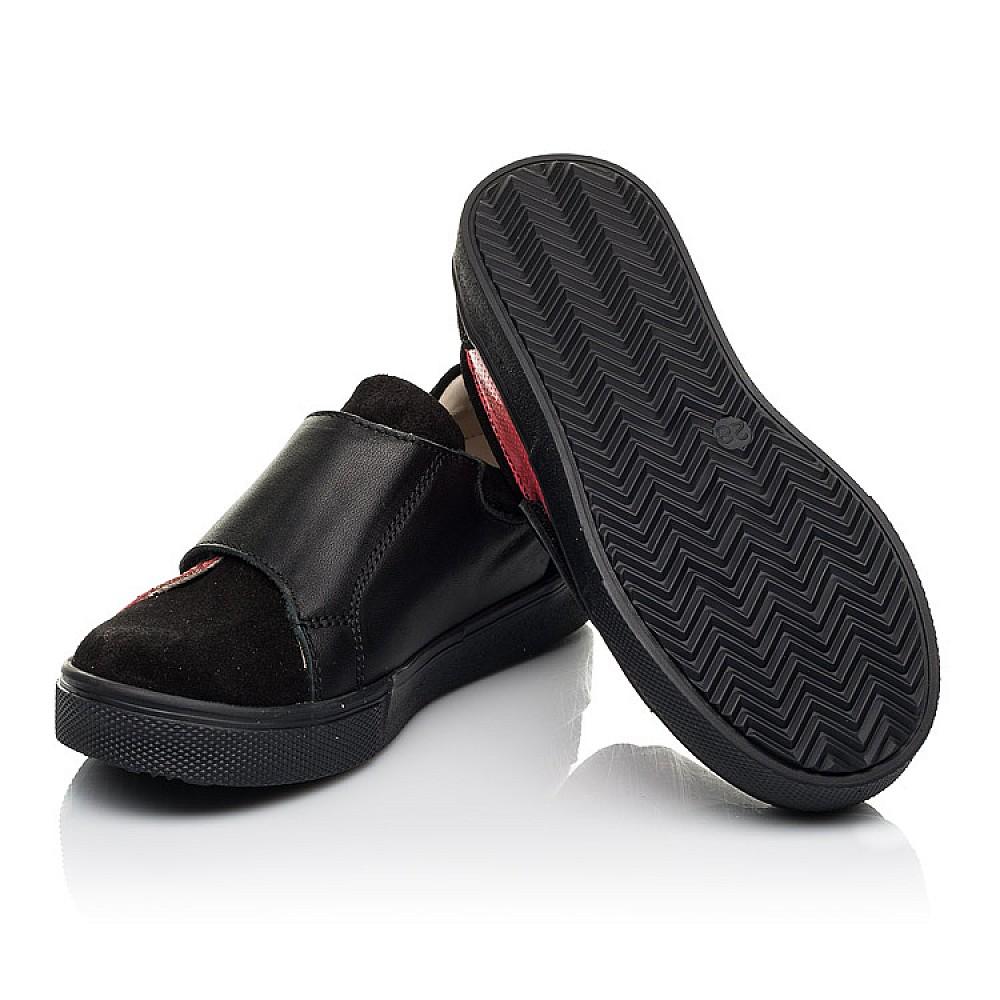 Детские кеды Woopy Fashion черные для девочек натуральная кожа и замша размер 27-36 (5056) Фото 2