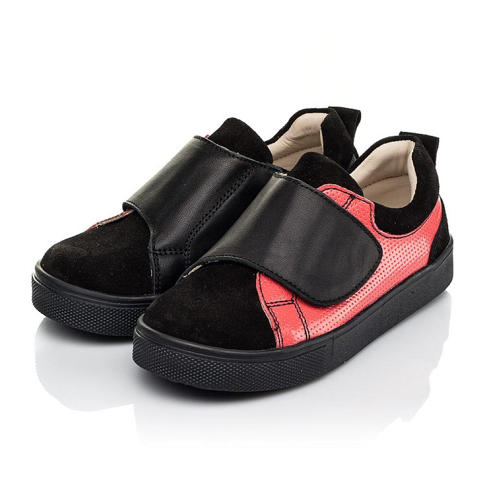 Детские кеды Woopy Fashion черные для девочек натуральная кожа и замша размер 27-36 (5056) Фото 3