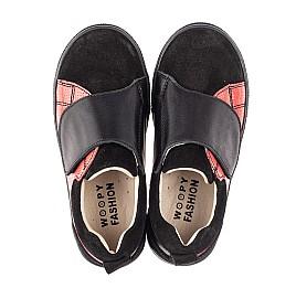 Детские кеди Woopy Fashion черные для девочек натуральная кожа и замша размер 27-36 (5056) Фото 5