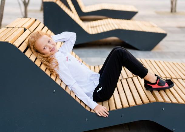 Девочка обута в детские кеды Woopy Fashion черные (5056) Фото 2
